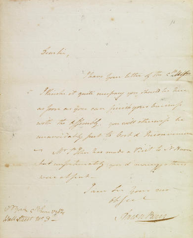 BURR, AARON.  1756-1836.