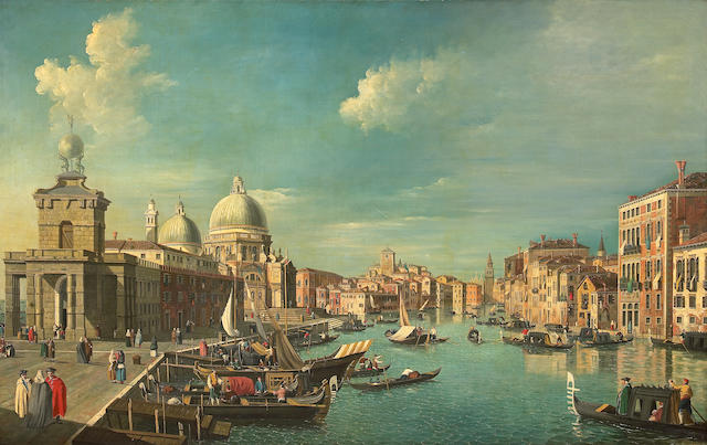 Follower of Antonio Canal, known as il Canaletto (Italian, 1697-1768) A view of the Grand Canal, Ven
