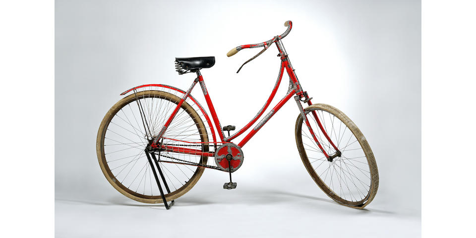 A rare Tiffany & Company silver mounted lady's bicycle