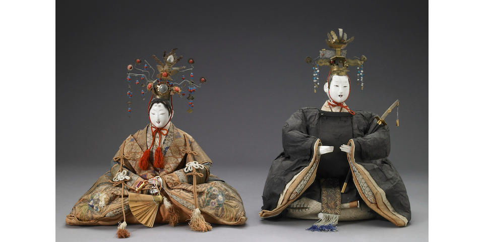 A group of three Emperor and Empress dolls Edo Period, 18th/19th Century