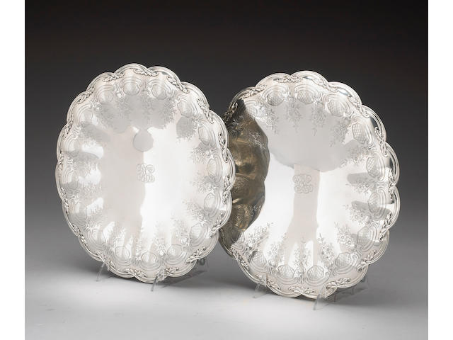 Pair of Sterling Dessert Stands by Tiffany & Co.
