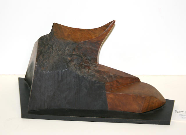 John Charles Haley (American, 1905-1991) Abstract Wood Sculpture, 1985 (No. 349) height: 7 3/4in