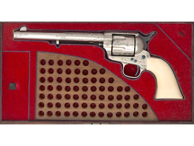 A cased and engraved presentation Colt Single Action Army revolver