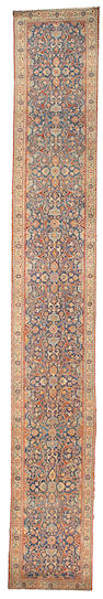 A Tabriz runner Northwest Persia,  size approximately 2ft. 8in. x 18ft. 6in.