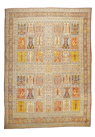 A Hadji Jalili Tabriz carpet Northwest Persia, size approximately 12ft. x 16ft. 4in.