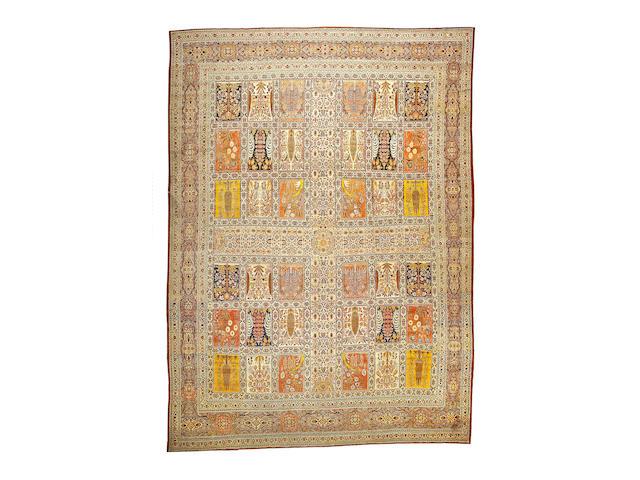 A Hadji Jalili Tabriz carpet Northwest Persia, size approximately 12ft. x 16ft. 4in.