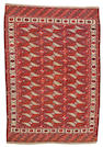 A Yomut carpet Turkestan, size approximately 7ft. 8in. x 10ft. 6in.
