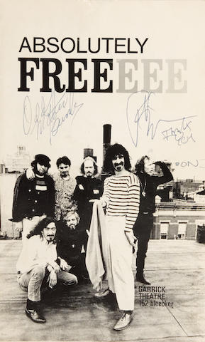 A Frank Zappa signed program, 1968