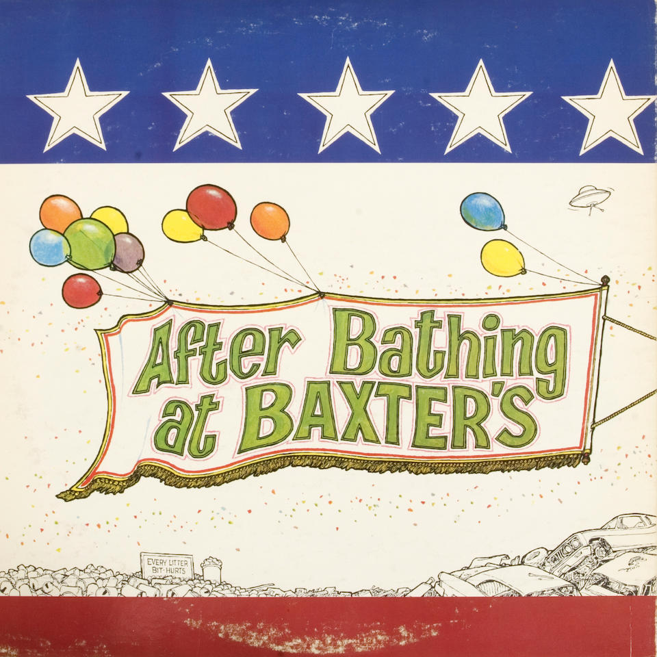 """A Jefferson Airplane original painting created by artist Ron Cobb for their album jacket """"After Bathing at Baxter's,"""" 1967"""