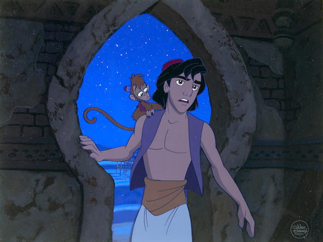 "A Walt Disney celluloid from ""Aladdin"""