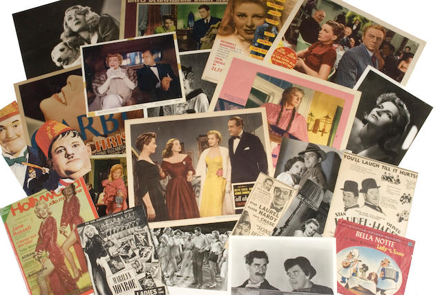 A massive and impressive archive of lobby cards and other paper ephemera related to films, 1930s-1990s