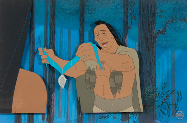 "A Walt Disney celluloid from ""Pocahontas"""