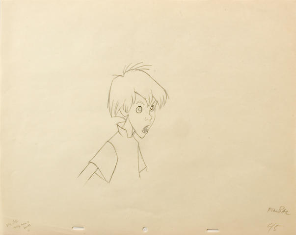 "A Walt Disney animation drawing from ""Sword and the Stone"""