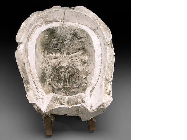 "A mold of an ape face from ""King Kong"""