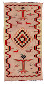 A Navajo Germantown pictorial weaving, 4ft 6in x 2ft 3in