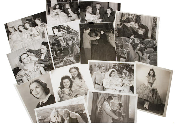 "A group of black and white publicity stills from ""Gone with the Wind"""
