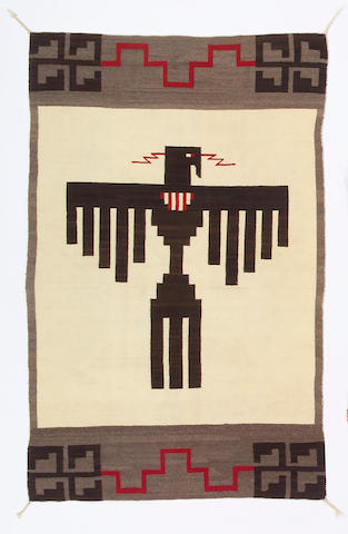 A Navajo pictorial rug, 6ft 1in x 3ft 11in