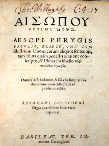 AESOP. C.620-560 B.C.E.