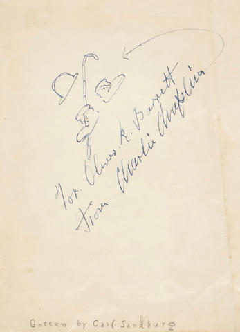 CHAPLIN, CHARLES.  1889-1977.