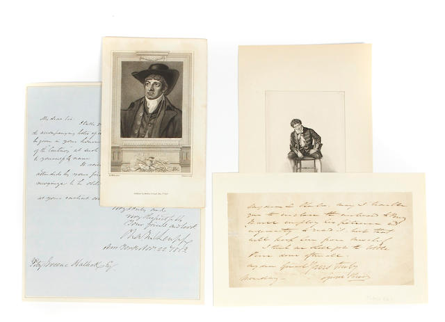 [19TH CENTURY WRITERS AND ACTORS.]