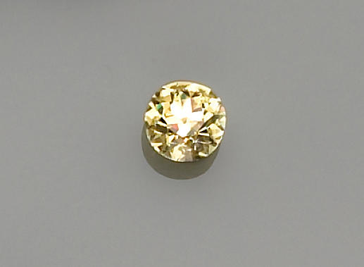 An unmounted fancy color diamond