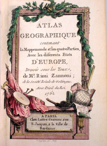 RIZZI-ZANNONI, GIOVANNI ANTONIO. 1736-1814.