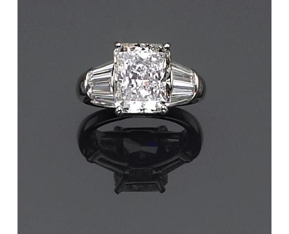 A diamond solitaire ring, Oscar Heyman & Bros.