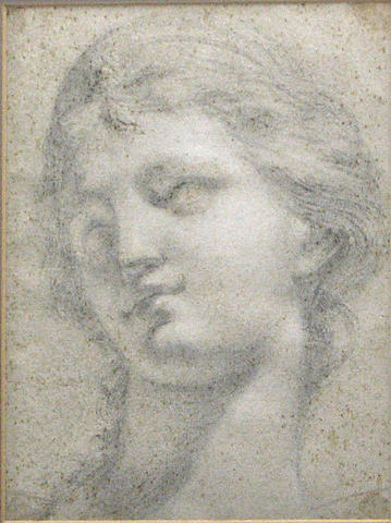 Italian School, 18th Century A head of a woman facing left, after the antique 12 1/2 x 9 1/4in