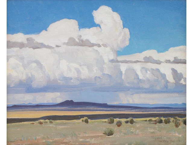 Maynard Dixon (1875-1946) Summer Clouds, New Mexico (No. 409), 1931 16 x 20in