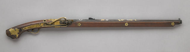 A matchlock rifle