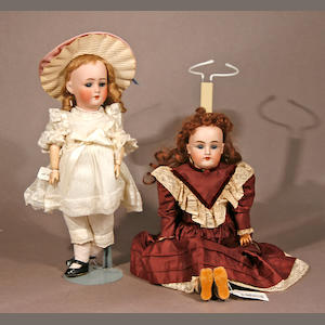 Two German bisque-head dolls
