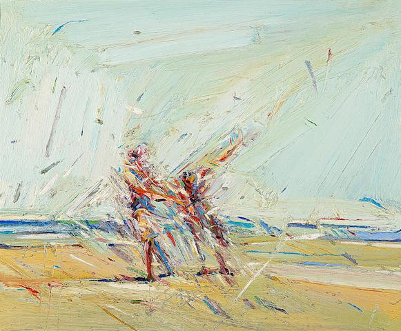 Wayne Thiebaud (American, born 1920) The Players 20 x 24in (50.8 x 61.0cm)