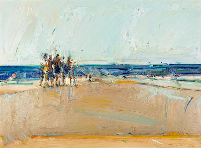 Wayne Thiebaud (American, born 1920) Mexican Beach Boys 22 x 30in (55.9 x 76.2cm)