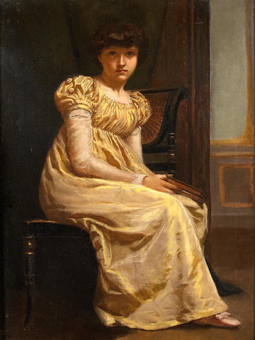 English School, 19th Century A pensive moment 18 x 14in