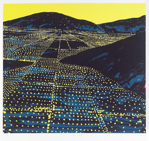 Peter Alexander (American, born 1939); Untitled (Los Angeles Twilight); Hallelujah II; (2)