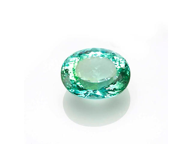 """Exceptional and Large """"Paraiba"""" Tourmaline"""