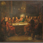 c. 18th German? School  The last supper 25 3/4 x 27 1/4in