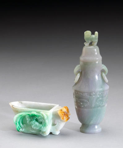 Two jadeite vessels