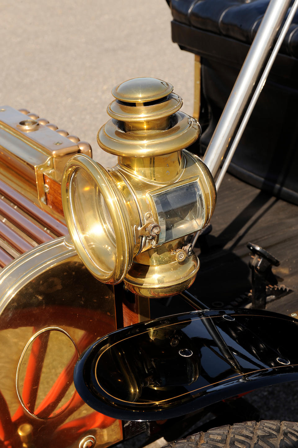 One of the first lefthand drive, wheel steered American automobiles,1903 Eldredge 8hp Runabout  Chassis no. 71622