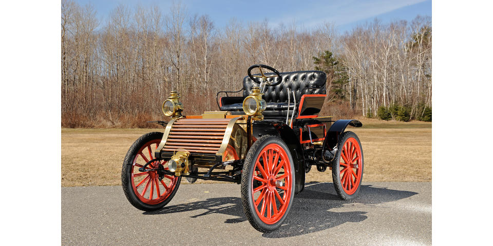 One of the first lefthand drive, wheel steered American automobiles,1905 Eldredge  8hp Runabout 71622
