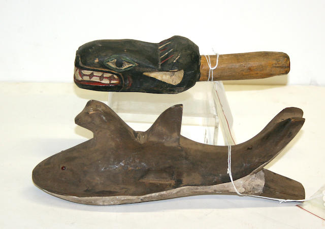 Two Northwest Coast style rattles