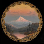 William Samuel Parrott (American, 1844-1915) Mount Hood and Lost Lake diameter: 14in