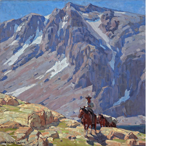 Edgar Payne (1883-1947) Packing in the Sierras 40 x 40in