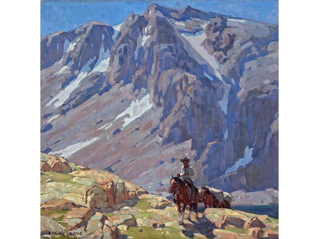 Edgar Payne (1883-1947) Packing in the Sierras 40 x 40in