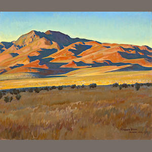 Maynard Dixon (1875-1946) Mountains in Sunset Light (No. 368), 1927  25 1/4 x 30 1/4in