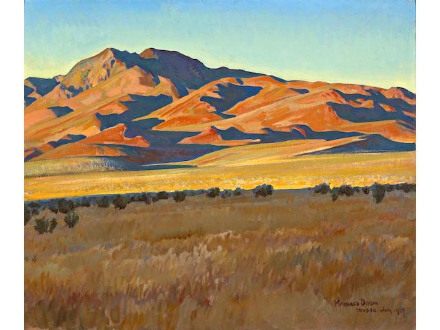 Maynard Dixon (1875-1946) Mountains in Sunset Light (No. 368), 1927 25 1/4 x 30 1/4in