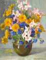 Alice Brown Chittenden (American, 1859-1944) A Spring Bouquet 20 x 16in