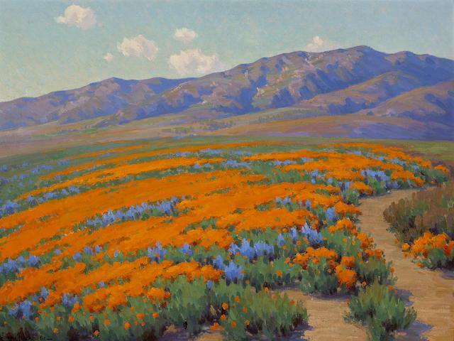 John Marshall Gamble (1863-1957) California Wildflowers 30 1/2 x 40 1/4in