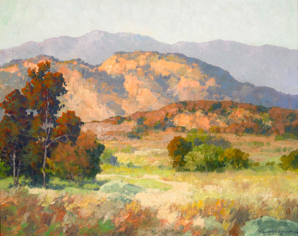 Maurice Braun (American, 1877-1941) Hills and Mountains 16 x 20in