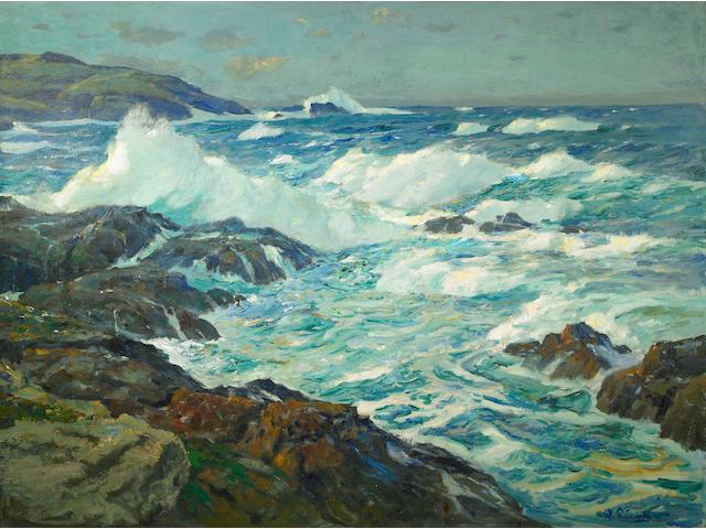 William Ritschel (1864-1949) Land's End 30 x 40in